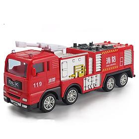Đồ chơi mô hình xe cứu hỏa phun nước KAVY NO.8827 chất liệu hợp kim và nhựa nguyên sinh an toàn, chi tiết sắc sảo