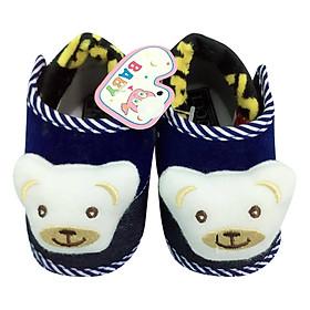 Giày Tập Đi Đế Bệt Baby Panda Bảo Thịnh - Xanh Đậm (12cm)