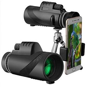 Ống Kính Zoom Chụp Xa Và Quay Đêm Cho Điện Thoại Đen (40X60)