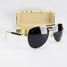 Mắt kính mát nam thời trang DKYQXD tròng Polarized phân cực, gọng kim loại không gỉ.