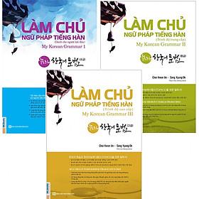 Combo 3 Cuốn Sách Làm Chủ Ngữ Pháp Tiếng Hàn Cho Người Mới Bắt Đầu + Trung Cấp + Cao Cấp (Học Kèm App MCBooks)