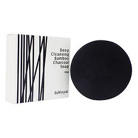 Xà Phòng Than Tre Tẩy Rửa Sâu iLoVeggie Deep Cleansing Charcoal Soap (100g x 5 Miếng)