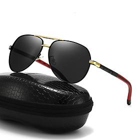 Kính râm phân cực, Kính râm chống tia UV, Kính nam thời trang cao cấp + Tặng hộp đựng kính + Khăn lau - KM02