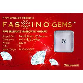 Kim Cương Nhân Tạo Dạng Tròn 105 Giác  - Fascino Gems 16 TIM