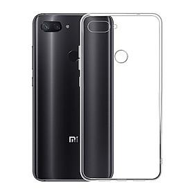 Ốp lưng silicon dẻo trong suốt dành cho Xiaomi Mi 8 Lite - Hàng cao cấp