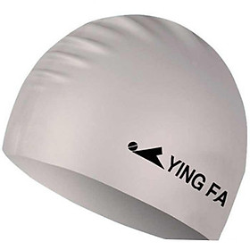 YINGFA (YINGFA) swimming cap men and women adult fashion leisure silicone solid color swimming cap white