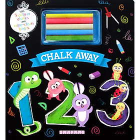 Chalk Away: 123 (With 5 Colour Chalks and Wipe-Clean Pages)