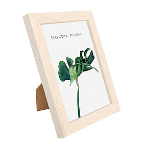 8 Inch Wooden Picture Frame Natural Eco Wood Photo Frame with High Definition Acrylic for Wall Hanging and Tabletop