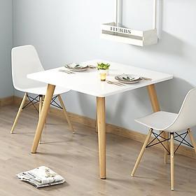 Bộ bàn ăn 2 ghế eames 70×70 BA7070