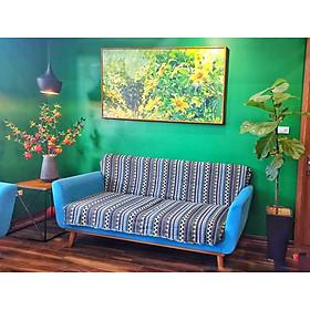 Thảm Vải Thổ Cẩm Phủ Ghế Sofa, Khăn Trải Bàn,  Thảm Trải Sàn CTC03 - Trang Trí Phòng Khách, Phòng Ngủ