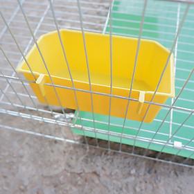 (Bộ 2 cái) Máng ăn uống gia cầm hình vuông (Màu ngẫu nhiên) dạng treo chuồng lồng- (15x7x5cm)- máng ăn uống chim cảnh gà chọi, gà tre,