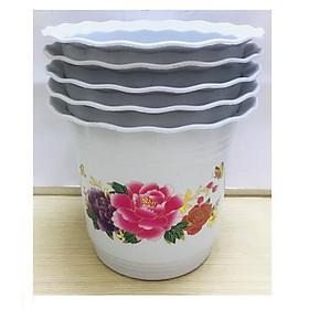 5 Chậu Nhựa Trồng Hoa,Cây Cảnh Hình Tròn BB 260x230 CN