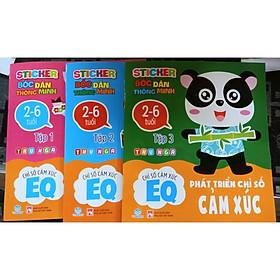 Combo 3 cuốn Sticker bóc dán thông minh - Phát triển chỉ số cảm xúc EQ