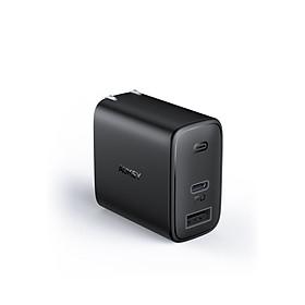 Cốc Sạc Aukey 2 Cổng PA-F3, Sạc Nhanh Cổng Type C Power Delivery 18W, Cổng USB-A 12W - Hàng Chính Hãng