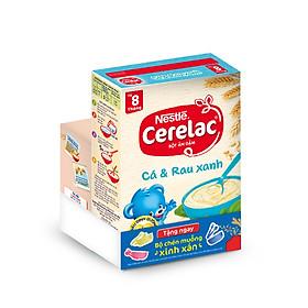 Bột Ăn Dặm Nestle Cerelac - Cá Và Rau Xanh (200g) - Tặng Kèm Bộ Chén Muỗng Ăn Dặm