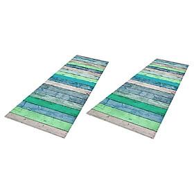 Set of 2 Waterproof Bath Bathroom Bedroom Floor Shower Mat Non-slip Area Rugs