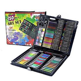 Hộp bút màu 150 chi tiết cho bé thoả sức sáng tạo (Hàng chuẩn lâu phai màu)