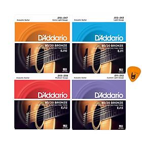 D'Addario EJ10, EJ11, EJ12, EJ13 - Bộ Dây Đàn Acoustic Guitar - Phân Phối Chính Hãng (80/20 Bronze Strings) - Kèm Móng Gảy DreamMaker