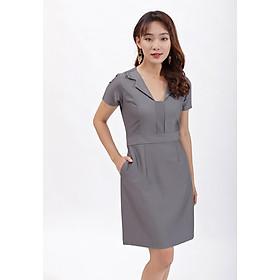 Váy đầm dáng ôm thời trang Eden cổ v cách điệu, kiểu dáng thanh lịch, chất liệu cotton mềm mại - D389