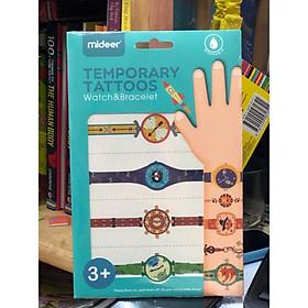 Miếng dán hình xăm giả - Đồng hồ đeo tay cho bé - Đồ chơi an toàn Mideer chính hãng