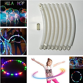 LED Hula Ring 8 Parts Detachable Collapsable Light Colorful Night Light for Dancing Stage Props