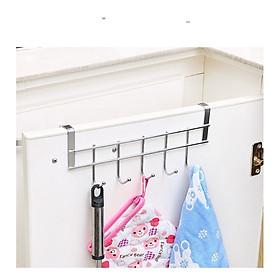Móc treo cửa đa năng inox 5 móc chịu lực không đóng tường không gỉ không cần đóng đinh tường khoan tường móc quần áo treo quần áo móc chìa khóa móc treo chổi treo đồ nhà bếp dễ dàng sử dụng tiết kiệm không gian