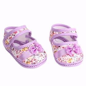 Giày vải tập đi cho bé gái 0-9 tháng giao hình ngẫu nhiên