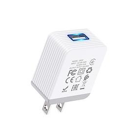 Củ Sạc Nhanh 3.0A Hoco DC03 Max 1 Cổng USB - Dành Cho Mọi Thiết Bị iPhone, Pin Sạc , Điện Thoại Android - Hỗ Trợ Đèn Led Màu Xanh - Hàng Nhập Khẩu