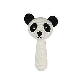 Thú bông bằng len Lục lạc dài gấu panda Lular trắng - sản xuất thủ công handmade in Việt Nam - chất liệu 100% cotton, phù hợp mọi lứa tuổi