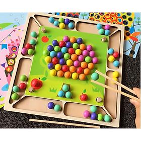 Đồ chơi gỗ rèn kỹ năng - BỘ TỔNG HỢP RÈN LUYỆN KỸ NĂNG DÙNG KẸP GỖ VÀ ĐŨA GỖ