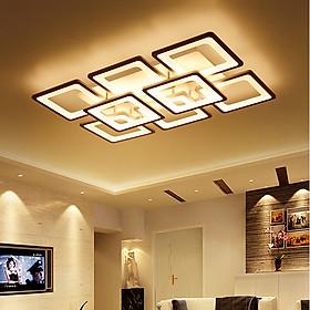 Đèn ốp trần trang trí phòng khách LIVINGROOM hiện đại 3 màu ánh sáng có điều khiển từ xa