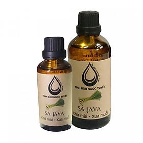Hình đại diện sản phẩm Combo 2 chai tinh dầu sả Java chuyên đuỗi muỗi và khử mùi Ngọc Tuyết 100mlx50ml