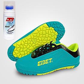 Giày đá bóng trẻ em EBET 6302 Xanh ngọc - Tặng bình làm sạch giày cao cấp