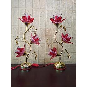 Đèn thờ bóng led hoa thuỷ tinh (dành thờ bàn thờ đứng hoặc bàn thờ treo)