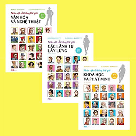 Sách - Combo Nhân vật nổi tiếng thế giới (3 cuốn) (tặng kèm bookmark thiết kế)