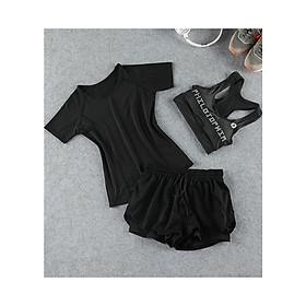 Sét quần áo tập gym nữ Louro SE21,mặc đuộc 2 bộ,đồ tập gym nữ, yoga, zumba, chất siêu đẹp, co giãn, thoán mát