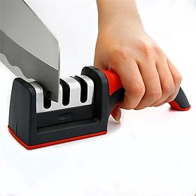 Dụng cụ mài dao, máy mài dao kéo 3 rãnh siêu Sắc bén - Màu Ngẫu Nhiên