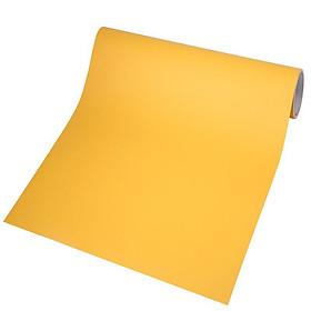 Giấy dán tường có sẵn keo khổ 1,2m màu vàng nhám