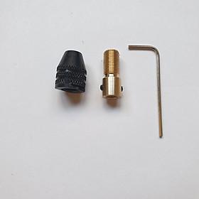 Đầu măng ranh kẹp mũi khoan 0,1-3.2mm + nối đồng cho motor 775