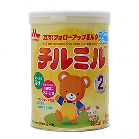Hộp Sữa Bột Morinaga Chilmil Số 2 (850g) Dành cho trẻ từ 6 -36 tháng tuổi