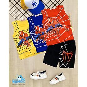 GIÁ TẬN XƯỞNG Bộ  ĐÒ quần áo cho trẻ em in hình spider-Man người nhện siêu ngầu cho bé trai từ 8kg đến 25kg