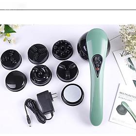 Máy massage cầm tay toàn thân pin sạc 8 đầu PULI PL-661DC4 - 5 chế độ, 6 tốc độ mát xa