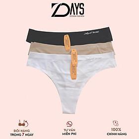 Combo 3 quần lót nữ, quần lót su đúc trơn lọt khe không viền sexy