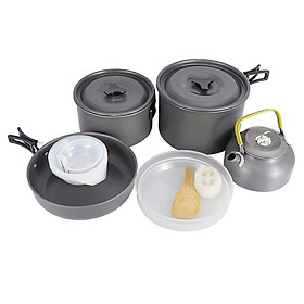 Outdoor Camping Pot Set 5-6 Person Aluminium Alloy Cookware Utensil