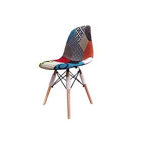 ghế eames chân gỗ bọc thổ cẩm