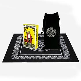 Combo Bộ Bài Bói The Rider Waite Tarot và Túi Nhung Đựng Tarot và Khăn Trải Bàn Tarot