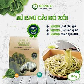 Mì Rau Eat Clean Cải Bó Xôi Hữu Cơ Organic Anpaso, Giảm Cân , ăn chay, không chiên nóng, tốt cho tiêu hóa 120g