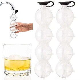 Ice Cube Ball Maker Whiskey Cocktail Round 3D Mould Party Bar Household Tool