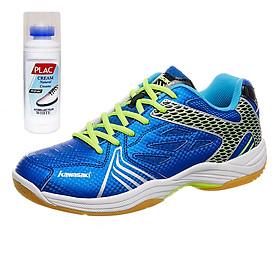 Giày cầu lông Kawasaki chính hãng K071 MÀU XANH - Tặng kèm bình làm sạch giày cao cấp
