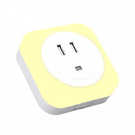 Hình đại diện sản phẩm Warm White Nightlight with Twilight Sensor Compact LED Plug-In Night Light Energy Saving Only 0.26 W – For Nursery